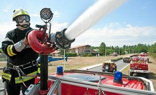 Exercice incendie des pompiers de la Gironde
