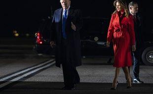 Donald Trump et son épouse Mélania sont arrivés à Londres le 2 décembre 2019 pour le sommet de l'Otan.