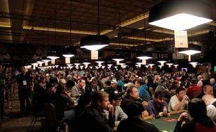 L'Amazon room du Rio hotel-Casino de Las Vegas où se déroule les 41e championnats du monde de poker (photo prise le 7 juillet 2010)