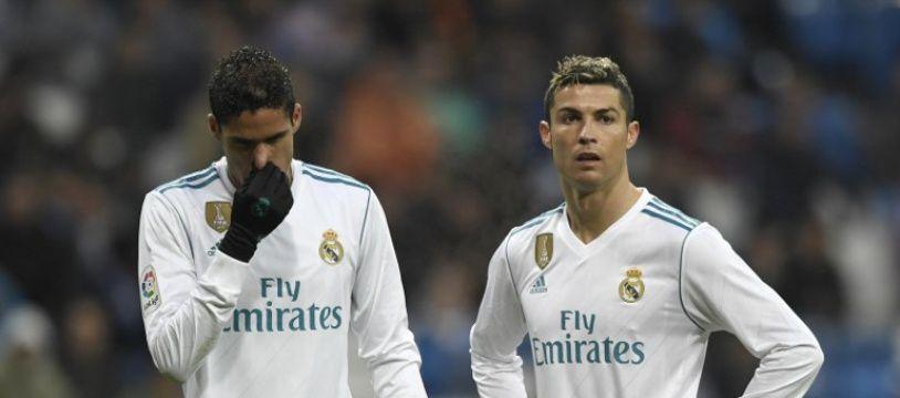 Varane et Ronaldo lors de la défaite du Real Madrid à domicile contre Villarreal (0-1), le 13 janvier 2018.