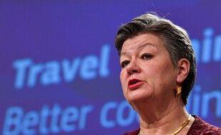 La suédoise Ylva Johansson, commissaire européenne aux Affaires intérieures, le 25 janvier 2021.