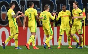 La joie des Nantais après un des deux buts de Préjuce Nakoulma.