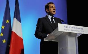 Nicolas Sarkozy a annoncé l'extension ,sous conditions, du RSAaux moins de 25 ans, le 29 septembre 2009 à Avignon.