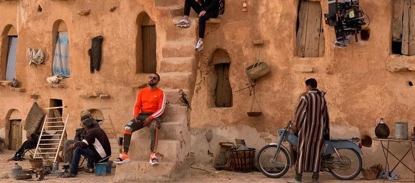 Image extraite du tournage du clip « Veni Qui» de DTF.