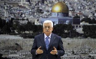 Le président palestinien Mahmoud Abbas s'adresse à la presse, le 22 juillet 2014 à Ramallah