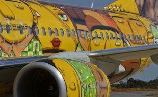 L'avion des footballeurs brésiliens pour la Coupe du monde