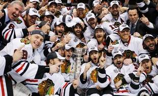 Les Chicago Blackhawks remportent la coupe Stanley, le 10 juin 2010