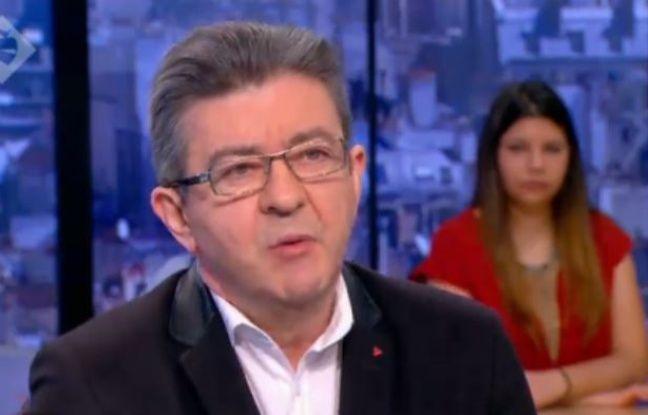 Jean-Luc Mélenchon sur Canal+ le 27 mars 2016.