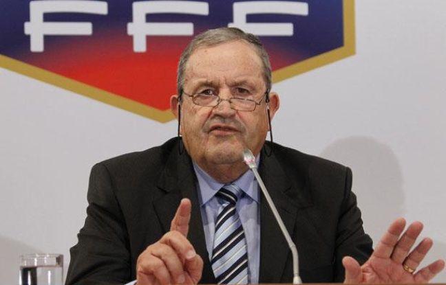 Fernand Duchaussoy, le président de la FFF, le 23 juillet 2010, à Paris.