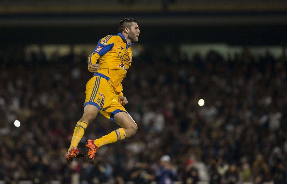 André-Pierre Gignac avec les Tigres contre les Pumas, le 13 décembre 2015.  – Christian Palma/AP/SIPA
