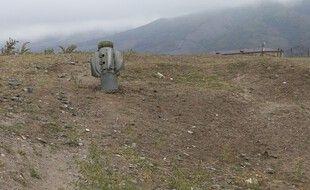 Un tir de roquette dans la région du Haut-Karabakh, le 1er octobre 2020.