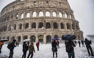 Rome sous la neige, le 26 février 2018.