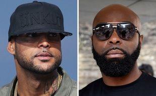Les rappeurs Booba et Kaaris en 2018