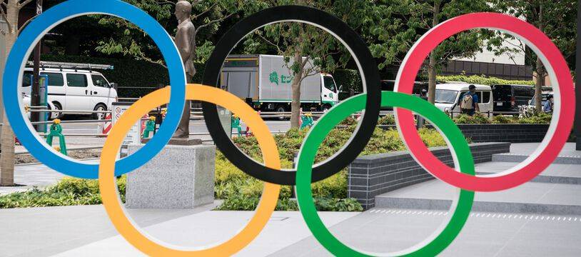 Les anneaux du drapeau des Jeux Olympiques.