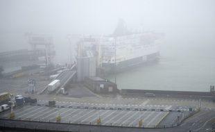 Un camion embarque sur un ferry à Douvres, le 31 janvier 2020 (illustration).