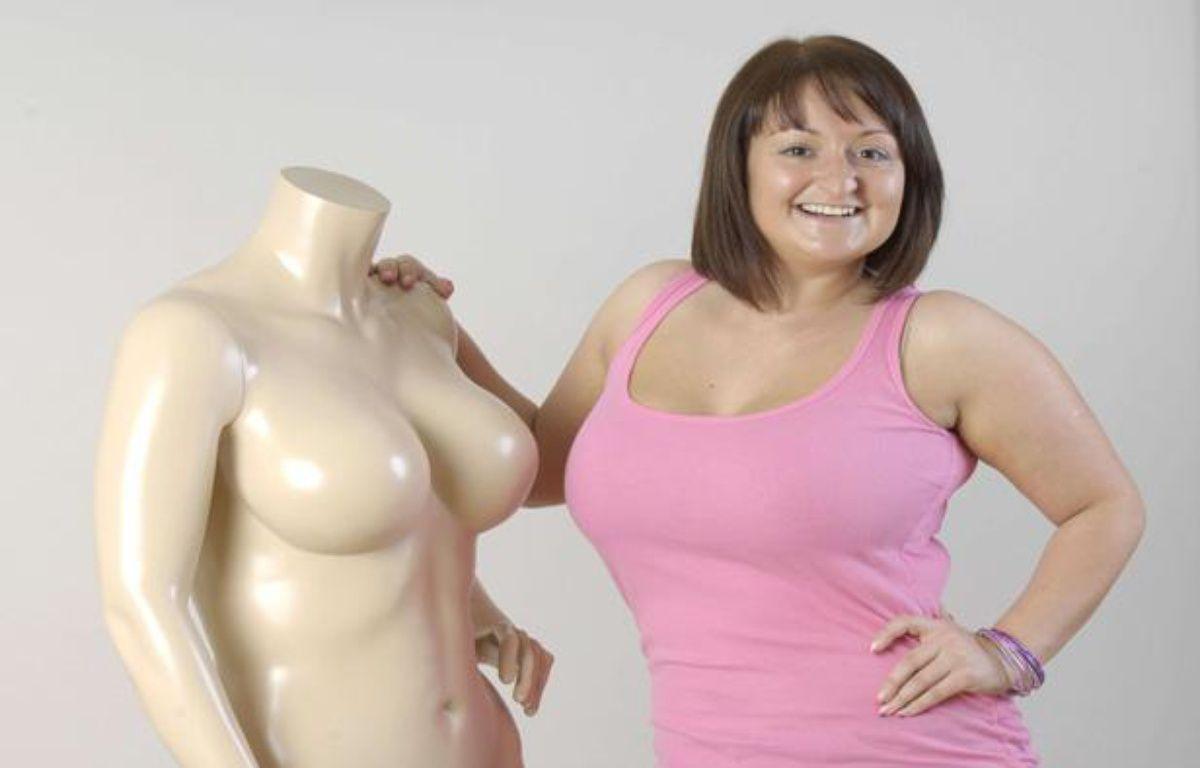 Un mannequin de Bravissimo, marque britannique de lingerie spécialisée dans les grandes tailles. – Rex Features/REX/SIPA