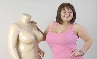 Un mannequin de Bravissimo, marque britannique de lingerie spécialisée dans les grandes tailles.