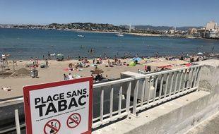 L'interdiction de fumer concerne trois plages, dont celle de la Pointe Rouge, depuis le 1er juin.