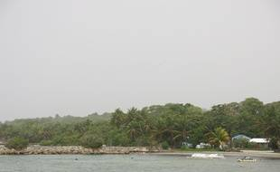 La plage des Galbas en Guadeloupe le 21 juin 2020.