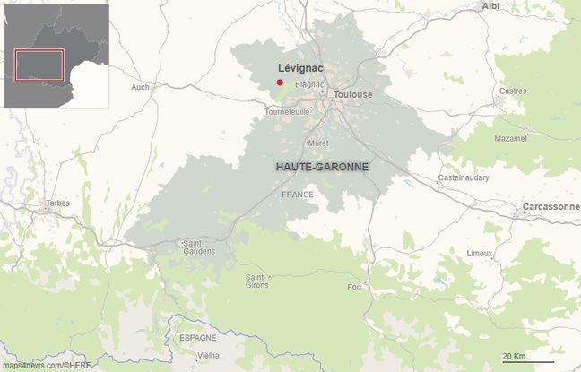 La commune de Lévignac, au nord ouest de Toulouse, en Haute-Garonne.