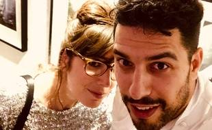 L'actrice Nora Hamzaoui et le chef italien Simone Tondo.