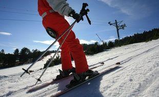 Un skieur dans les Pyrénées.