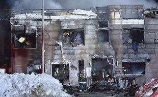 11 victimes ont été recensés dans l'incendie de cette résidence pour personnes âgées, à Sapporo, le 1er février 2018.