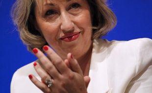 Marie-Anne Montchamp, secrétaire d'Etat aux solidarités, lors de la convention UMP pour la justice sociale, le 8 juin 2011, à Paris.