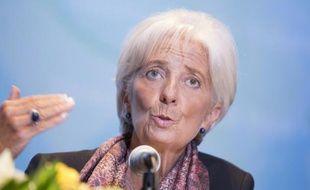 Christine Lagarde, directrice générale du FMI, lors d'une conférence de presse, le 2 septembre 2015 à Jakarta, en Indonésie