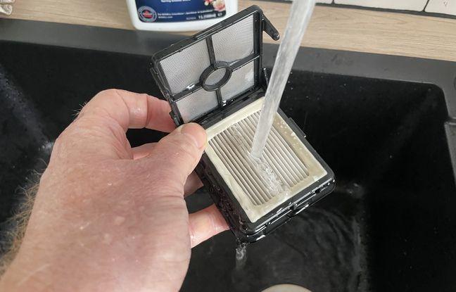 Le filtre a besoin d'être nettoyé et pourra être remplacé moyennant une dizaine d'euros.