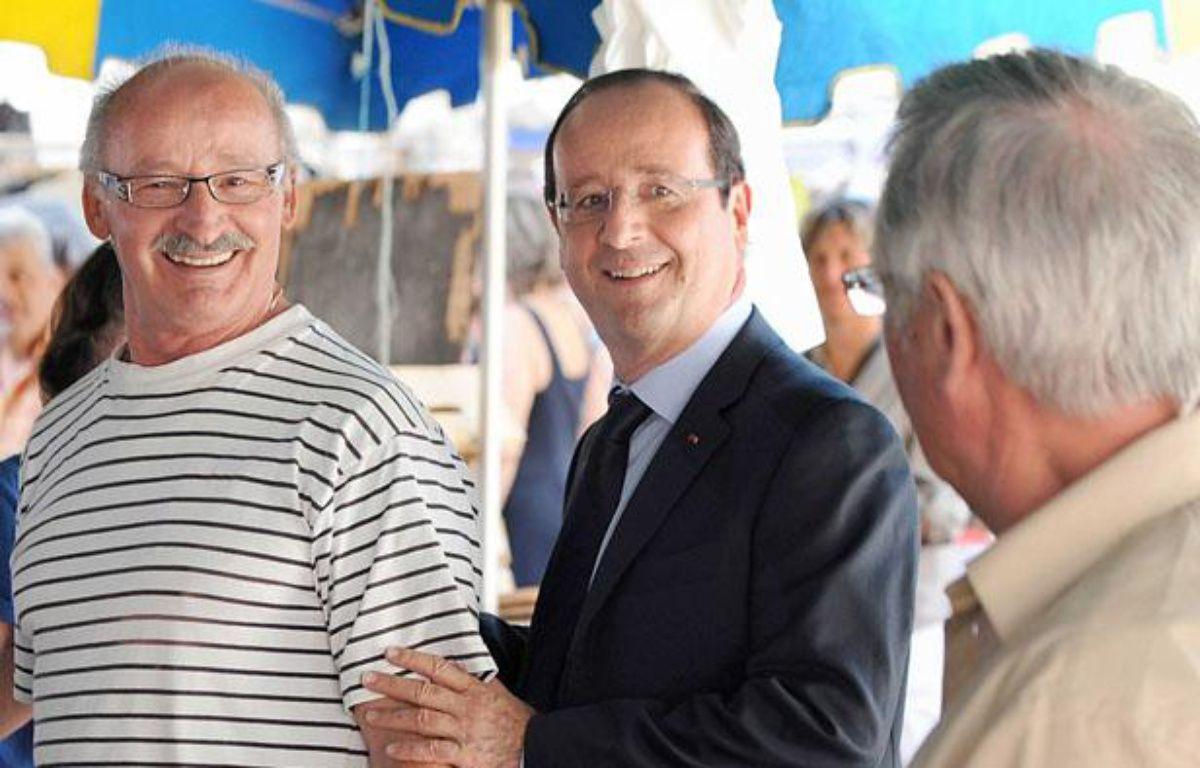 François Hollande était ce samedi 21juillet en Corrèze. – ANDRIEU-POOL/SIPA