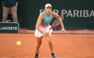 Caroline Garcia à Roland-Garros.