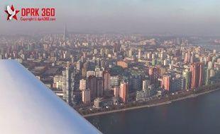 Pyongyang filmée depuis un avion par le photographe Aram Pan.