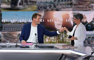 Débat entre Yannick Jadot et Sandrine Rousseau pour la primaire écologiste, à Paris, le 22 septembre 2021.