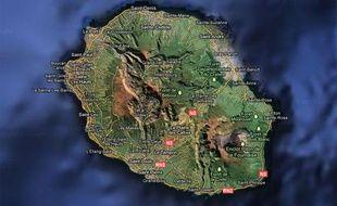Googlemap de l'Ile de la Réunion.