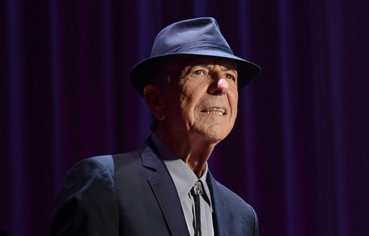 Leonard Cohen sur scène à l'O2 à Dublin, en septembre 2013 – Wenn