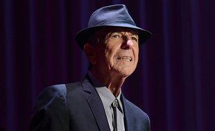 Leonard Cohen sur scène à l'O2 à Dublin, en septembre 2013