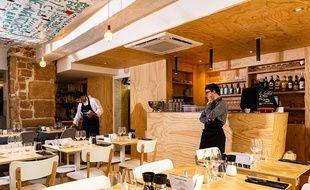 Le restaurant Le Reflet dans le Marais, rue de Braque (3e arrondissement)