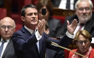 Le Premier ministre Manuel Valls est déterminé à voir se construire l'aéroport de Notre-Dame-des-Landes.. AFP / E. Feferberg FEFERBERG