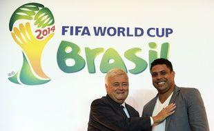 Ricardo Teixeira et Ronaldo avant le Mondial 2014 au Brésil.