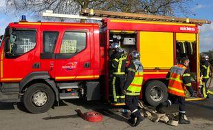 Des pompiers de Loire-Atlantique, ici à Nantes.
