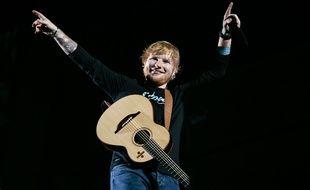 Ed Sheeran en concert à Détroit le 9 septembre 2018.
