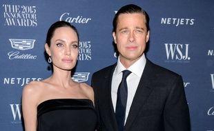 Les anciens époux Angelina Jolie et Brad Pitt