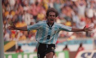 Gabriel Batistuta a inscrit 56 buts sous le maillot de l'Argentine.