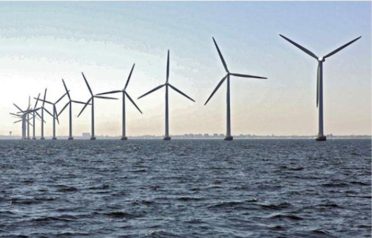 Semblable aux parcs maritimes d'Europe du Nord, le site du banc de Guérande pourrait compter 80 éoliennes. –  KORTH / CARO FOTOS / SIPA
