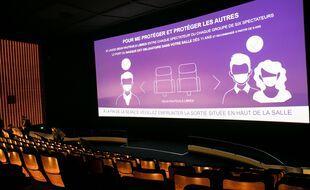 Photo d'illustration d'une salle de cinéma, rouverte en mai à Paris.