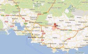 Carte de localisation de Saint-Maximin (Var)