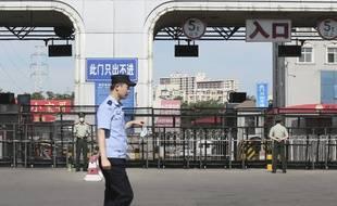 Le marché de Xinfadi a été fermé lundi 15 juin 2020 en raison du coronavirus à Pékin, en Chine.