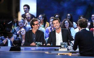 Cyrille Eldin et Victor Robert sur le plateau du «Grand Journal».