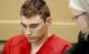 Nikolas Cruz, auteur présumé de la fusillade qui a fait 17 morts dans un lycée de Parkland, en Floride, le 19 février 2018 au tribunal.